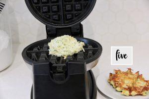 zucchini fritter recipe in a waffle maker