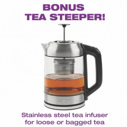 GK1758 kettle and tea steeper Salton