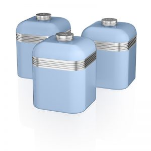 Swan Retro Set of 3 Cannisters