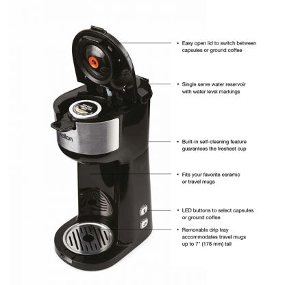 Salton 2-in-1 KCup Coffee Maker